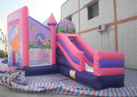 China Kinder 3 in 1 kombiniertem Schlag-Haus, rosa Prinzessin Bouncy Castle With Slide usine