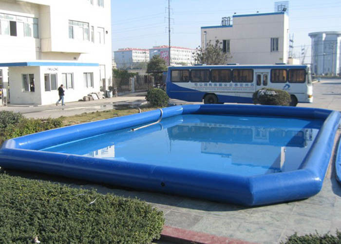 China Kinderblauer aufblasbarer tiefer Swimmingpool, groß über Grundexplosions-Pools usine