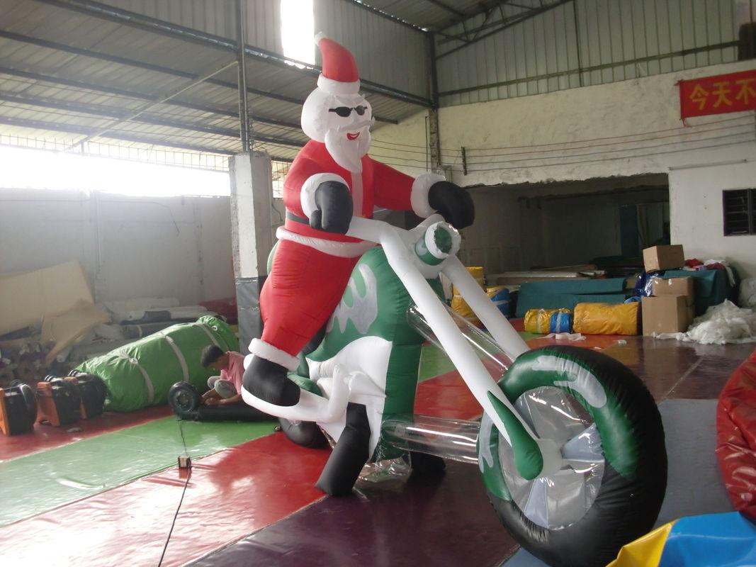 Aufblasbare weihnachtsdekorationen im freien riesiger